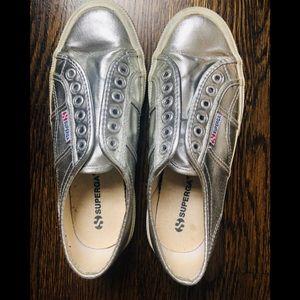 Superga Metallic Sneaker Size 39.5